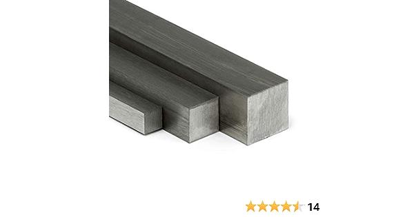 auf Zuschnitt L: 1400mm 140cm Edelstahl Vierkant VA V2A blank h11-6x6mm