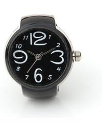 Gleader Anillo Reloj Metal Redondo Ajustable Negro Nuevo 22mm