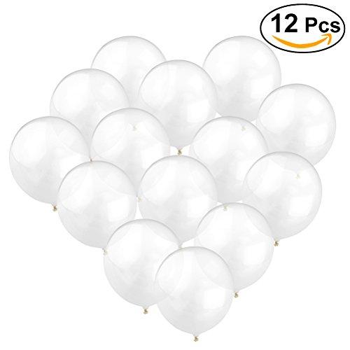 OUNONA Globos transparentes de látex engrosados globos brillantes para fotos decoraciones de boda 12pcs 12 '