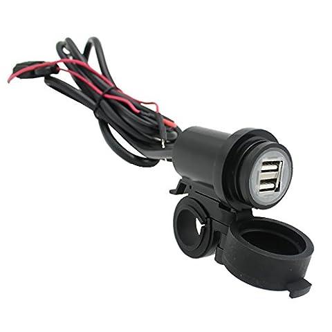 Gazechimp Adaptateur USB Double 12V-24V Prise De Charge Téléphone Portable Pour Moto