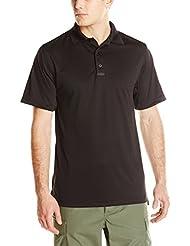 Tru-Spec rendimiento de los hombres 24-7 poliéster Polo de manga corta, color Negro - negro, tamaño XL