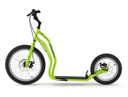 Mezeq RunRun Yedoo Scooter Tretroller 20/16 Zoll Cityroller Offroad-Reifen grün für Erwachsene und Jugendliche (Reifen Und Felgen Off-road 20 Zoll)