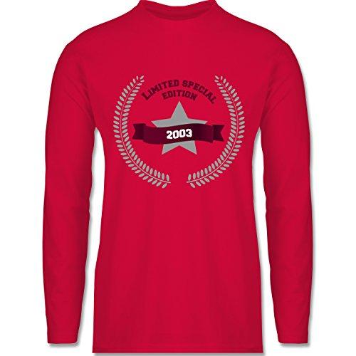 Geburtstag - 2003 Limited Special Edition - Longsleeve / langärmeliges T-Shirt für Herren Rot