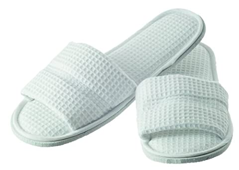 Hydrea London Waffle Cotton Spa Slippers