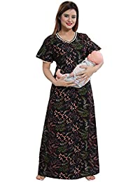 6acb8a36c0aa5 TUCUTE Womens Cotton Fabric Floral Print Feeding with Invisible Zip/ Maternity/Pregnancy/Nighty