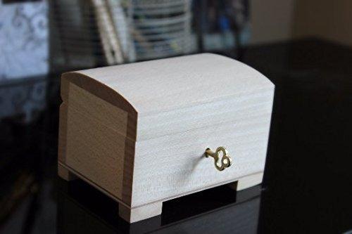 Holzbox mit Scharnieren Holzkiste klein verschließbar PSK10