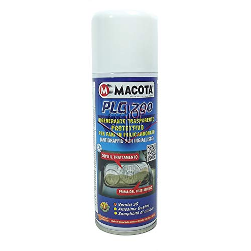 MACOTA PLC 200 Rinnova fanali Spray ravvivante fari Auto Moto 200 ML