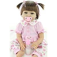 """22"""" Recién Nacido Bebé Muñecas Vinly Reborn Bebes 55cm Muñeca Renacida Para Niña Juguetes Reborn Baby Dolls, Adecuado Para Edades"""