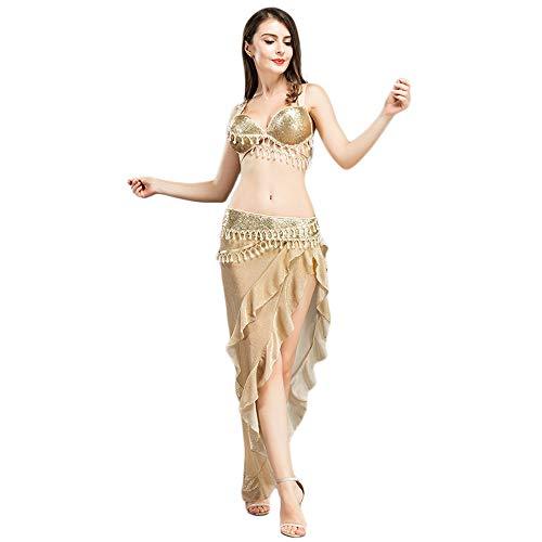 ROYAL SMEELA Bauchtanz Kostüm Set BH Gürtel Röcke Anzug Frauen tanzen Kleidung Bauchtanz-Performance-Kleidung BH und Gürtel und Rock-Sets