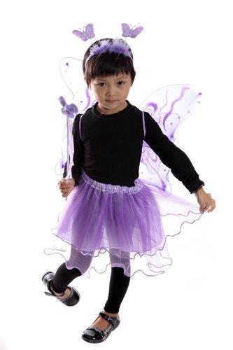 Ja02 98-104 Flügel Kostüm Kind Kinder Kostüme für Karneval (Feen Tinkerbell Kostüme Kleinkind)
