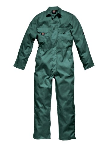 Price comparison product image Dickies Green Coverall Redhawk Stud Economy Mens (XXL)