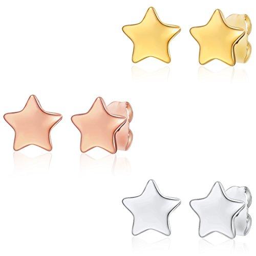Rafaela Donata - Set 3 pezzi orecchini - acciaio, Orecchini in acciaio, Gioielli d'acciaio - 60917057
