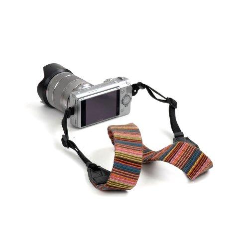 Beiuns universal weiche Farbstreifen Kameragurt Trageriemen Kamera Gurt Schulter Strap Belt Tragegurt Schultergurt Neck Gürtel für Einzel DSLR SLR Camera von Leica NIKON Sony Canon Olympus Pentax usw. - 7