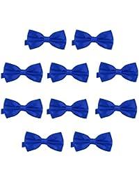 2f33ad506e7 DonDon Lot de 10 Noeud papillon pour homme 12 x 6 cm avec crochet déjà lié
