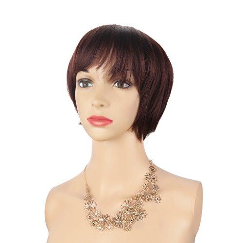 Hair Curly Wave Kurze Perücke mit maschinengewebten handgewebten Haar Top (Halloween-kostüme Tragen, Um Zu Arbeiten)