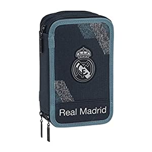 Safta 222419 Real Madrid 2 Estuches 21 cm, Azul