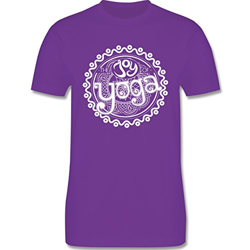Wellness, Yoga & Co. - The joy of yoga - Herren Premium T-Shirt Lila