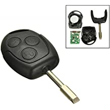 katur 1pcs 3 Button 433 MHZ Remote Entry Key Fob para Ford/Focus/Mondeo/Fiesta/KA Transit