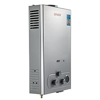 Cueffer LPG Calentador de Agua Calentador de Agua de Gas Licuado 36KW Calentador de Agua Automático LCD Digital Calentador de Agua Instantáneo Propane Gas Hot Water Heater (12L)
