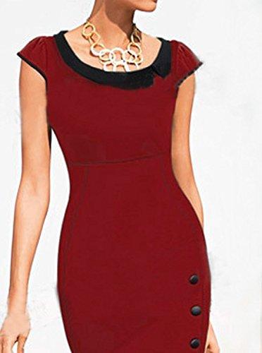 Damen Mode Pakethüften Kleid Reizvolle Pullikleid Rundkragen Bleistiftrock  Einfarbig Ballkleid ohne ärmel Minikleid Volant Saumabschluss Festkleid ...