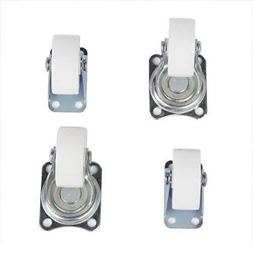 4 Stück Caster Set (DealMux 1,5 Rad Metall silbrig Top Platte befestigt Swivel Caster Set 4 Stück)