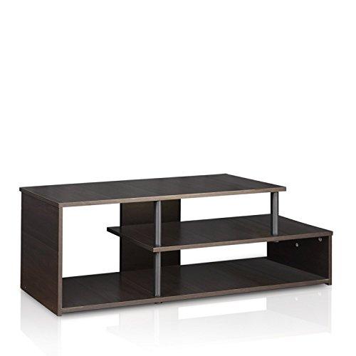Furinno Laptoptisch 15044CC/BK ECON Low Rise TV Ständer, Espresso/schwarz