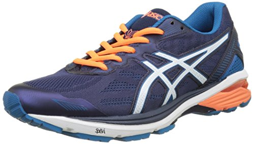 Asics Gt-1000 5, Scarpe Running Uomo Multicolore (Indigo Blue / Snow / Hot Orange)