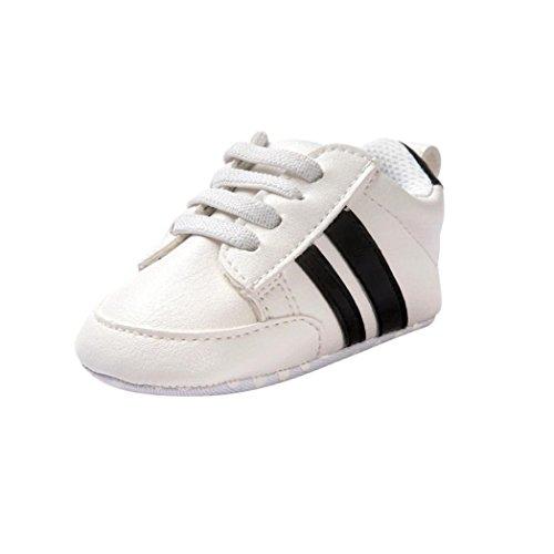 Babyhausschuhe - Prinzessin Ballett Schuhe - Soft Sohle Schuhe Prewalker - Cute Leder Single Schuhe - Sport Casual Sneaker - Erste Wanderer Schuhe für Infant Toddler Mädchen Jungen (Schwarz, 12~18 Monate)