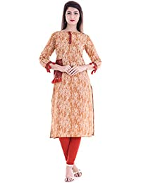 Shivom Fashion New Designer Long Dabbu Print Cotton Kurti