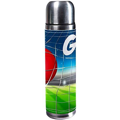 Monican Vakuumisolierte Wasserflasche trägt Kaffee-Reise-Becher-Thermosflasche, Belgien-Fußball-Ziel-Konzept zur Schau