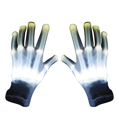 Beetest LED Rave Gloves- Multi Colour Flashing Fingertips (Fingertip Handschuhe)