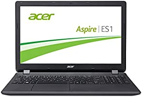 Acer Aspire ES 15 (ES1-571-P8XJ) 39,6 cm (15,6 Zoll Full HD) Notebook (Intel Pentium 3556U, 4GB RAM, 500GB HDD, Intel HD Graphics, Win 10 Home) schwarz