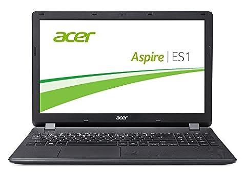 Acer Aspire ES 15 (ES1-571-P3CR) 39,6 cm (15,6 Zoll Full HD) Office Notebook (Intel Pentium 3556U, 8GB, 128GB SSD, Intel HD Graphics, DVD, Bluetooth, HDMI, SD Kartenleser, Win 10 Home) schwarz