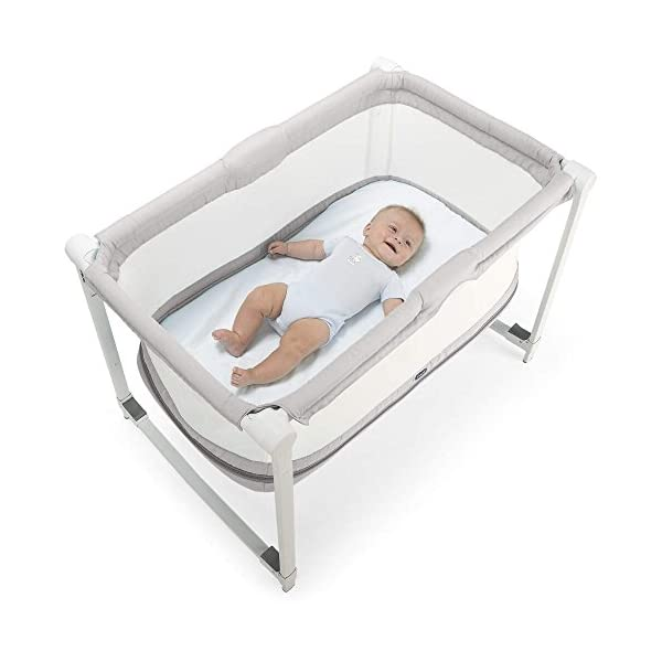 Chicco Zip & GO Travel Cot  Extended use: from birth as a crib, and then from 6 to 24 months as a first cot Two modes: can be used fixed or in rocking mode It is perfect for travelling as it comes with a travel bag and weighs only 7.3kg! 3