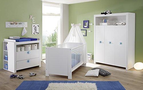 Wohnorama Babyzimmer 3-TLG Olivia von Trendteam Weiß by