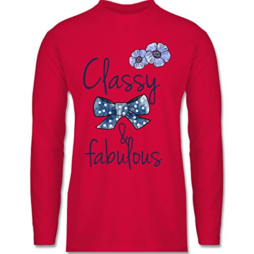 Statement Shirts - Classy and fabulous - Longsleeve / langärmeliges T-Shirt für Herren Rot