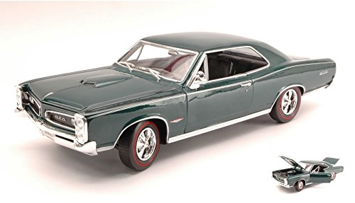 pontiac-gto-1966-metallic-dark-green-118-welly-auto-stradali-modello-modellino-die-cast