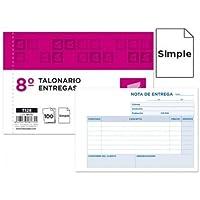 Liderpapel - Talonario entregas 8º original t128 apaisado (10 unidades)