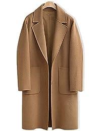 ZHANGZHI Abrigos Largos de Gran tamaño para Mujer Cierre con Botones de  Invierno Color Camel 5f3da90b37e6