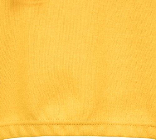Urban Classics Ladies Interlock Short Hoody, Felpa Donna Gelb (Chrome Yellow 1148)