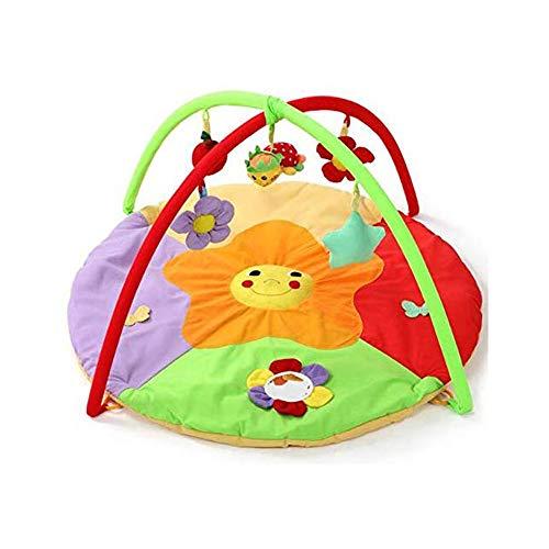 KJRJH Sun Flower Tätigkeits-Gymnastik, 0-2 Jahre alt Newborn Spieldecke Spielzeug Mat Fitness-Rack Kind Krabbeln Mat Brain Power Früherziehung Spielzeug junges Kind faltbare Develop