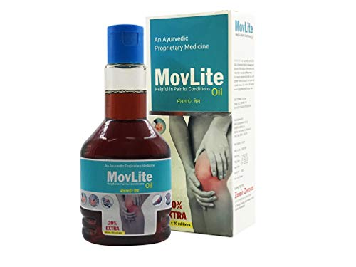 Movlite Pain Relief Oil for any kind of Joints Pain, Knee, Elbow, Ankle, Back Pain, Ayurvedic Pain Relief Oil, 120 ml(Pack of 1), 10% DISCOUNT