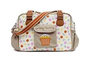 Pink Lining Yummy Mummy Baby Changing Bag Pansies