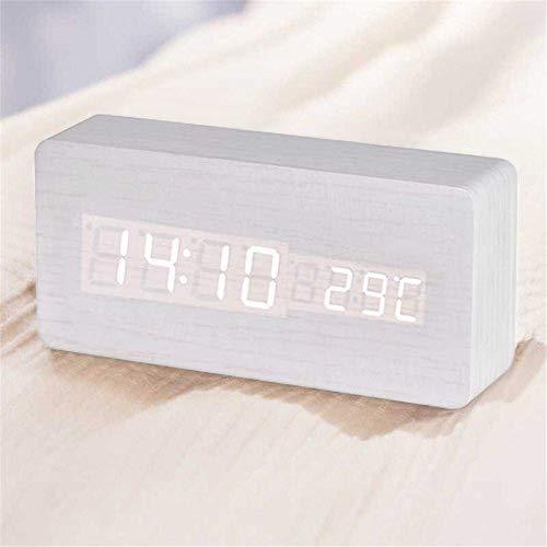 Queta LED Reloj Despertador Reloj Madera Reloj Digital
