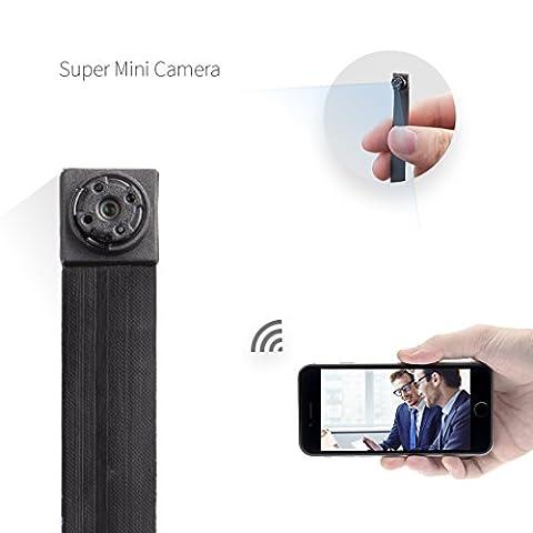 La Petit Caméra Espion Wifi HD 1080P caméra facilement portable et Détection de mouvement il a également une grande 128G mémoire
