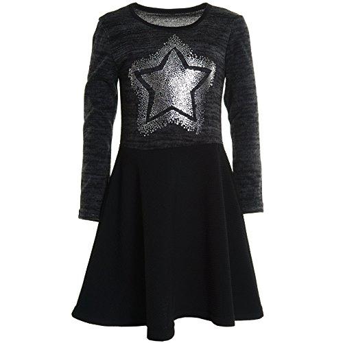 Mädchen Kinder Spitze Winter Kleid Peticoatkleid Festkleid Lang Arm Kostüm 20742