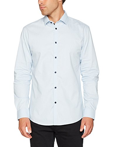 SELECTED HOMME Herren Businesshemd Shdonenew-Mark Shirt LS Sts Blau (Light Blue Aop)