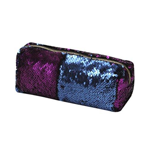 Subfamily® Unisex-Mode Doppel Farbe Pailletten Handtasche Kosmetiktasche Make-up-Tasche Handtasche Reisetasche Mode kleine tragbar Pailletten ()