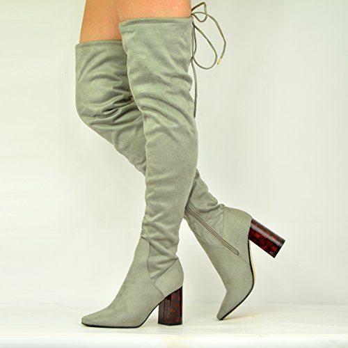Cucu Fashion - Sandali con Zeppa donna Grey Suede