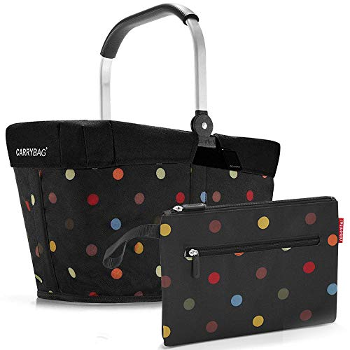 reisenthel Einkaufskorb carrybag Plus Cover Plus case 2 Einkaufskorb Einkaufstasche Einkaufsset (dots) Dots Case Cover